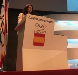 Dra Masia en el Comité Olímpico Español